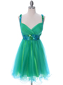 2141 Green Turquoise Homecoming Dress - Green Turquoise, Front View Thumbnail