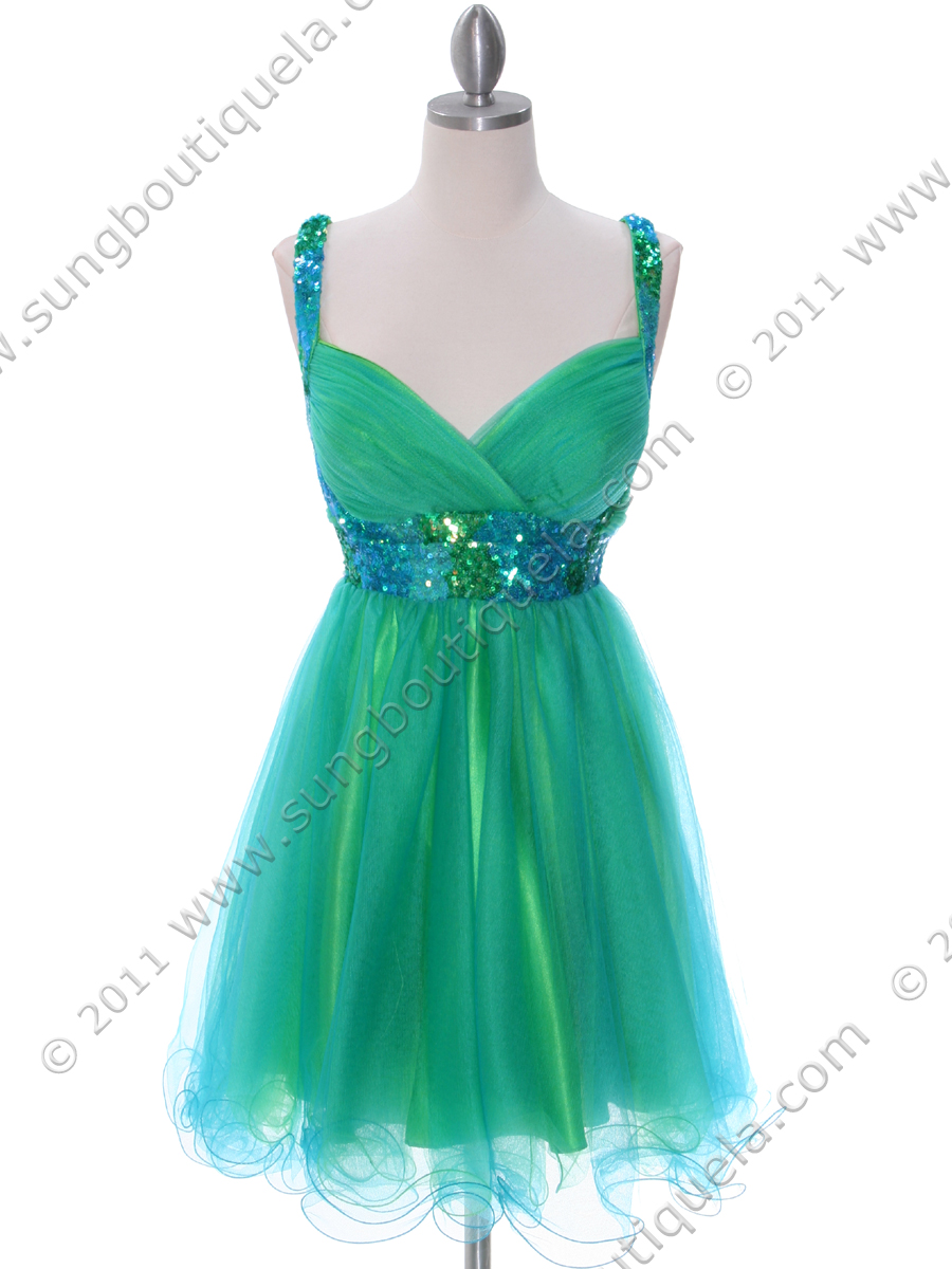 Green Turquoise Homecoming Dress | Sung Boutique L.A.