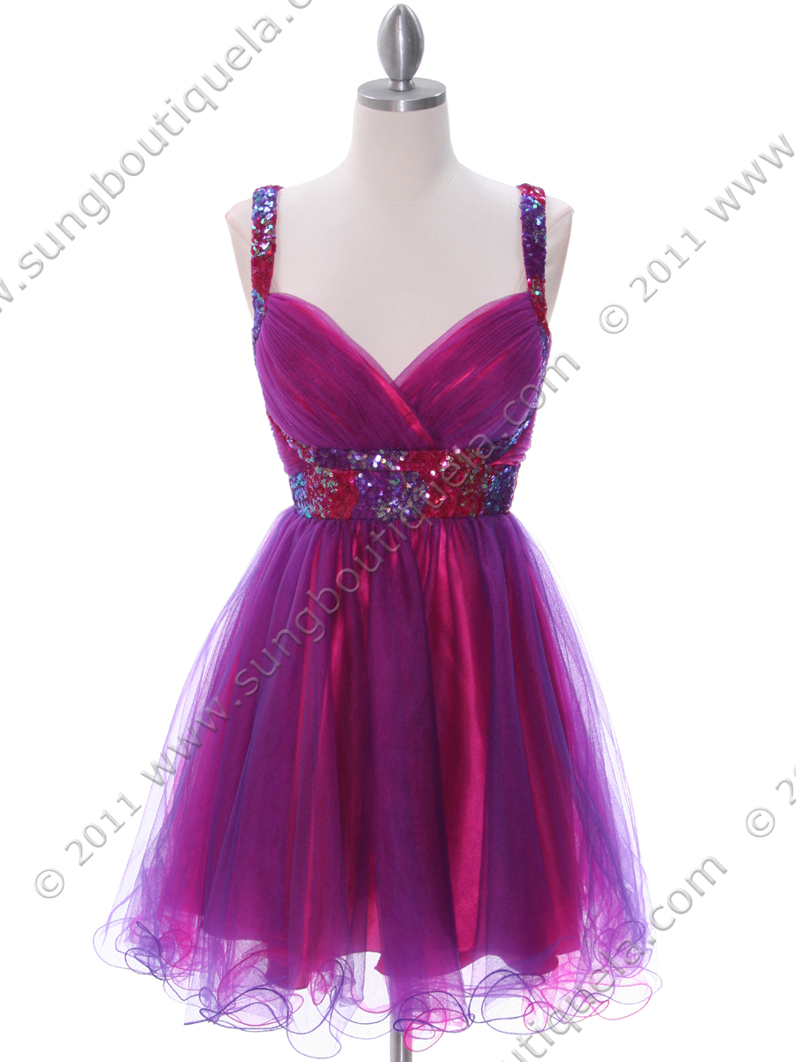 Hot Pink Purple Homecoming Dress Sung Boutique L A