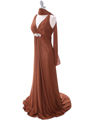 2148 Brown Glitter Bridesmaid Dress - Brown, Alt View Thumbnail