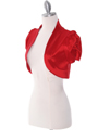 2151 Red Taffeta Bolero - Red, Alt View Thumbnail