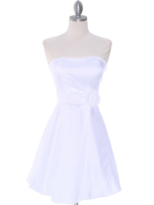 2152 Off White Taffeta Graduation Dress, Off White