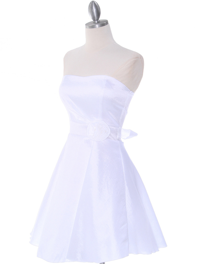 2152 Off White Taffeta Graduation Dress - Off White, Alt View Medium