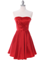 2152 Red Taffeta Cocktail Dress - Red, Front View Thumbnail