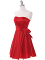 2152 Red Taffeta Cocktail Dress - Red, Alt View Thumbnail