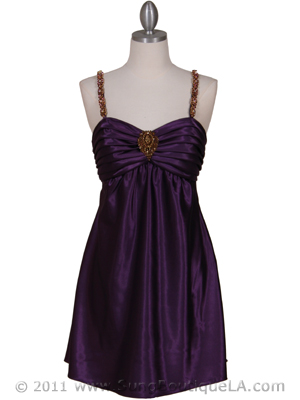 Purple Cocktail Dress on Purple Satin Party Dresses  Cocktail Dresses  Prom Dresses From Sung