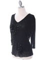 2289  Black Beaded Top - Alt. Image