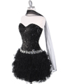 2302 Sweetheart Sequin Cocktail Dress - Black, Alt View Thumbnail