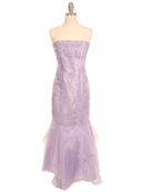 Lilac Crystal Organza Long Dress