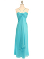 2831 Aqua Chiffon Evening Dress - Aqua, Front View Thumbnail