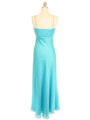 2831 Aqua Chiffon Evening Dress - Aqua, Back View Thumbnail