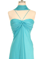 2831 Aqua Chiffon Evening Dress - Aqua, Alt View Thumbnail