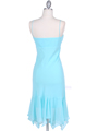 2834 Aqua Chiffon Cocktail Dress - Aqua, Back View Thumbnail