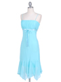 2834 Aqua Chiffon Cocktail Dress - Aqua, Alt View Thumbnail