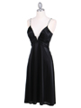 2949 Black Satin Cocktail Dress - Black, Alt View Thumbnail