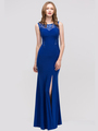 30-2063 Sleeveless Long Evening Dress with Slit