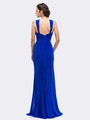 30-3440 Sleeveless Long Evening Dress - Royal Blue, Back View Thumbnail