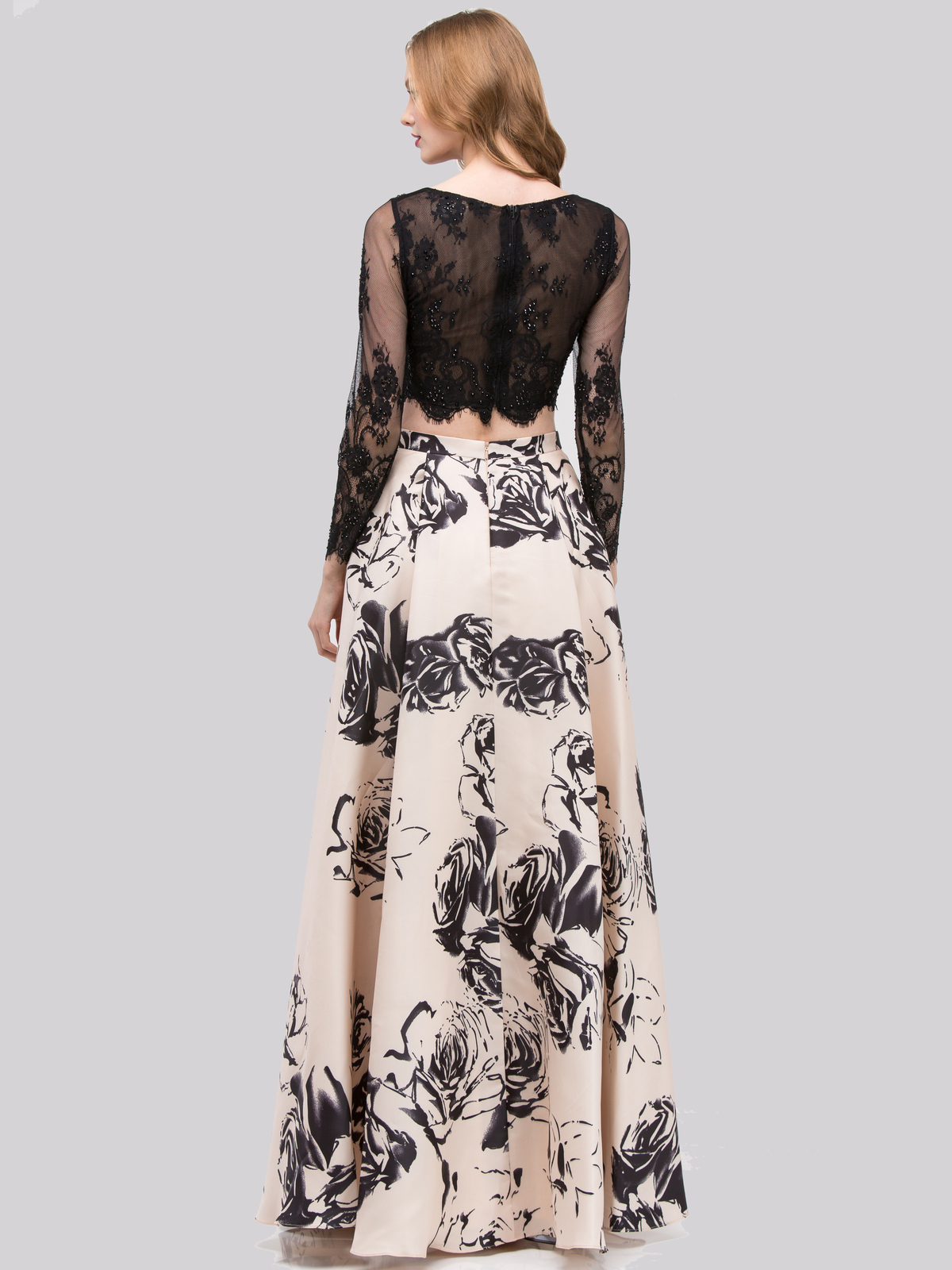 Two Piece Long Sleeves Prom Dress Sung Boutique L A