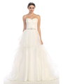 30-6500 Strapless Sweetheart Destination Wedding Gown - Off White, Front View Thumbnail