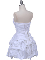 White Taffeta Cocktail Dress - Back Image