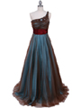 3057 Jade One Should Prom Gown - Jade, Front View Thumbnail
