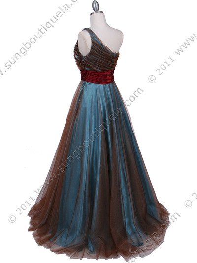 3057 Jade One Should Prom Gown - Jade, Back View Medium