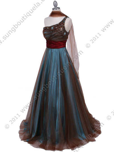 3057 Jade One Should Prom Gown - Jade, Alt View Medium