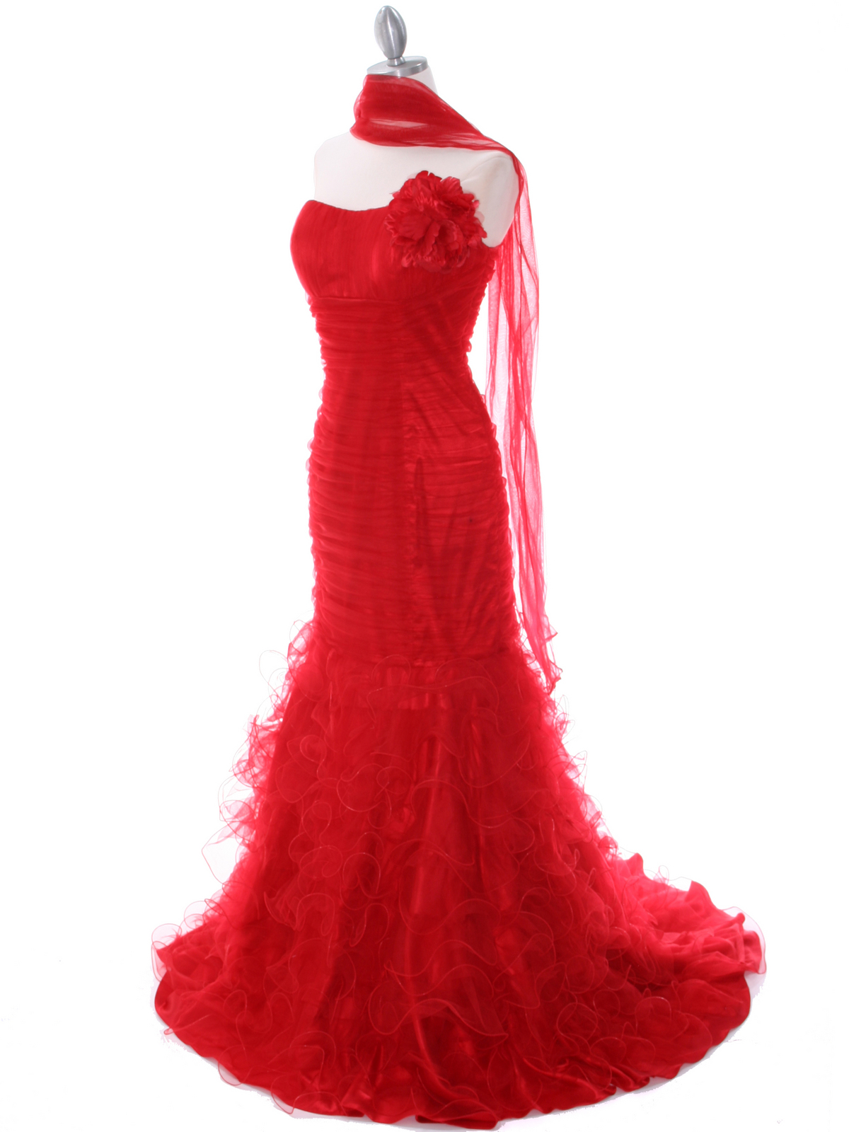 Red Lace Prom Dress | Sung Boutique L.A.