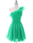 Green One Shoulder Homecoming Dress