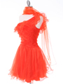Tangerine One Shoulder Homecoming Dress