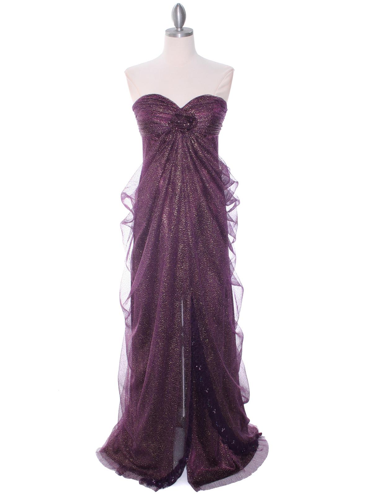 Eggplant Lace Strapless Evening Dress | Sung Boutique L.A.