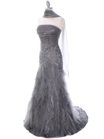 3182 Grey Evening Dress - Grey, Alt View Medium