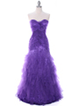Purple Lace Prom Dress - Front Image