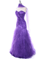 Purple Lace Prom Dress - Alt Image