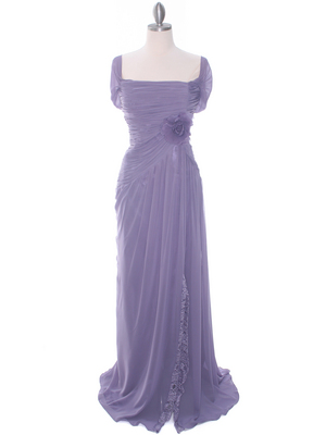 3198 Plum Chiffon Evening Dress, Plum