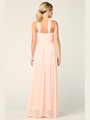 3206 Twisted Halter Neck Stretch Chiffon Bridesmaid Dress - Blush, Alt View Thumbnail