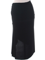 3240 Black Skirt - Black, Back View Thumbnail