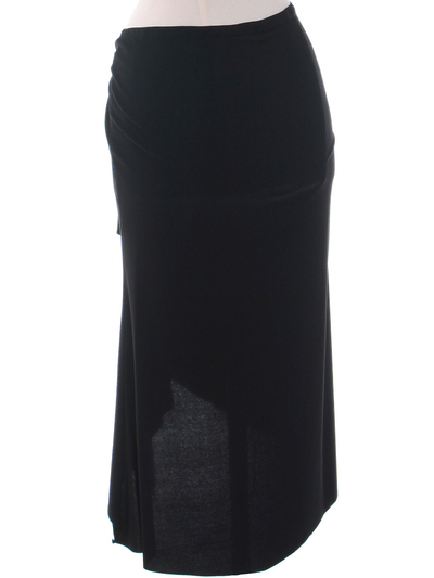 3240 Black Skirt - Black, Back View Medium