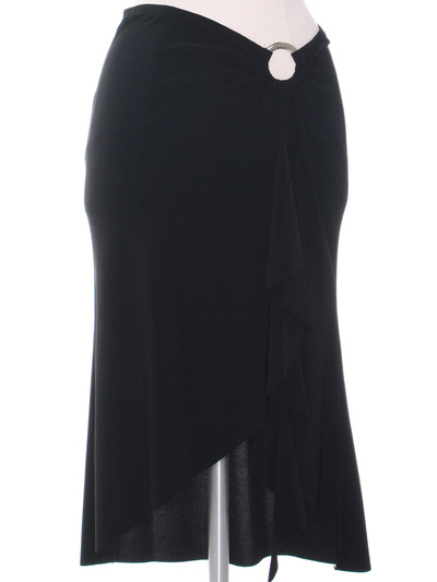 3240 Black Skirt - Black, Front View Medium