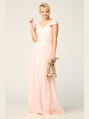 3314 Convertible Tulle Bridesmaid Dress, Blush