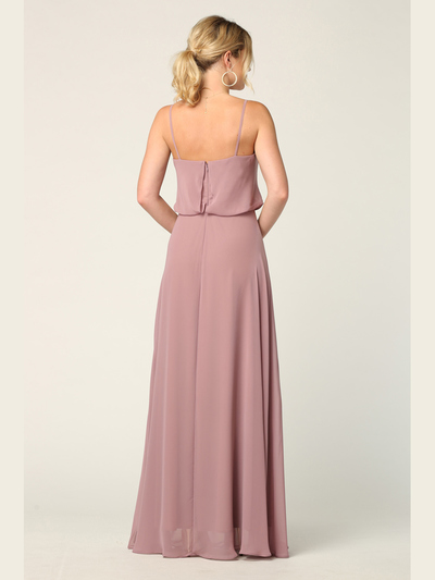 3318 Spaghetti Strap Blouson Top Bridesmaid Dress - Mauve, Alt View Medium