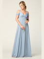 3321 Empire Waist Off Shoulder Evening Dress