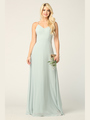 3341 Chiffon Evening Dress With Convertible Shoulder Straps