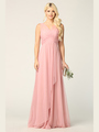 3344 Long Tulle Sleeveless Empire Waist Evening Dress