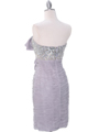 35079C  Silver Cocktail Dress with Bow by Terani - Back Image