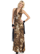 Leopard Evening Dress