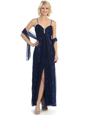 3799 Shimmer Sweetheart Evening Dress, Royal Blue Black