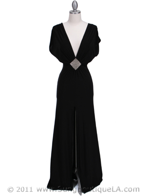 3817D Black Evening Dress, Black