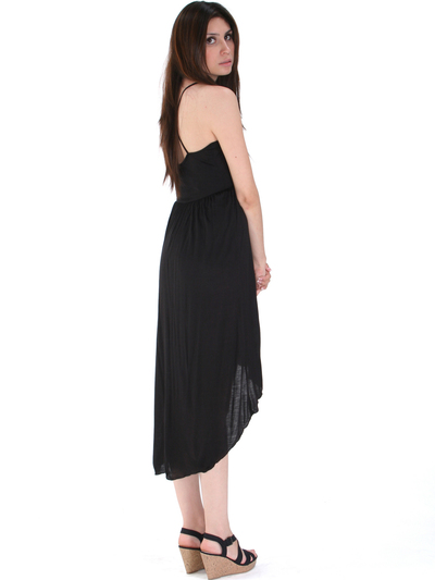 3952 High Low Tank Dress - Black, Back View Medium