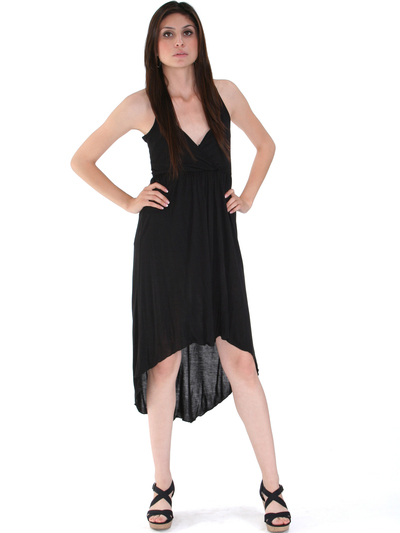 3952 High Low Tank Dress - Black, Alt View Medium
